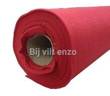 Acrylvilt van de rol 90 cm breed Rood Bij vilt enzo