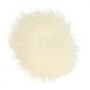 Fluffy Pom-pon Off White